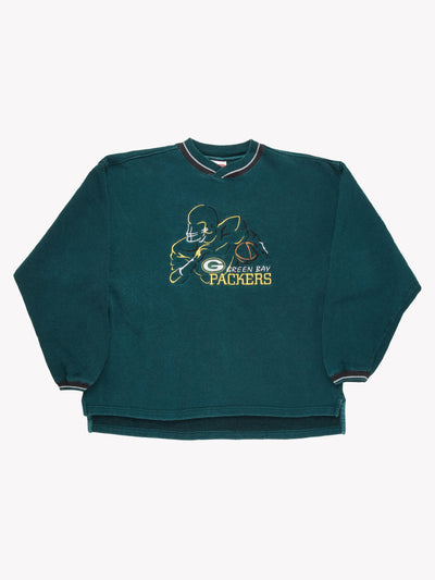 Green Bay Packers NFL Sweatshirt Green/Yellow/White Size Large