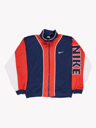 NIke Track Jacket Blue/Red/White Size XL