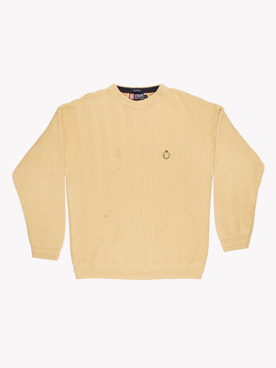 Chaps Ralph Lauren Cotton Sweater Yellow Size Large