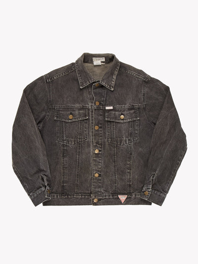 Guess Denim Jacket Black Size Large