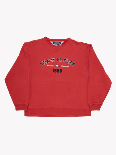 Tommy Hilfiger Embroidered Sweatshirt Red Size Medium
