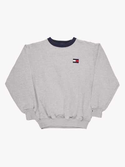 Tommy Hilfiger Small Logo Sweatshirt Grey Size Medium