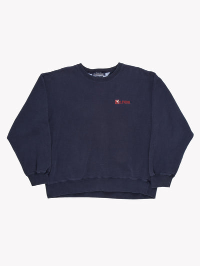 Tommy Hilfiger Small Logo Sweatshirt Navy Blue Size XL