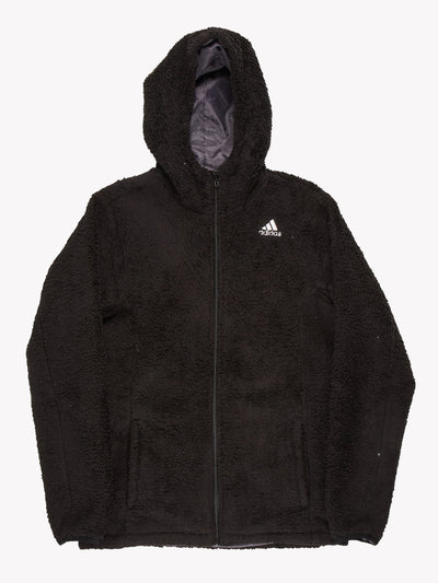 Adidas Fleece Hoodie Black Size Medium