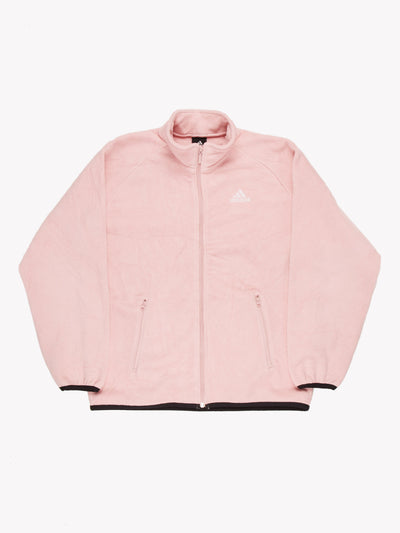Adidas Zip Up Fleece Pink Size Medium