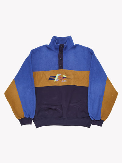 Lotto Fleece Blue/Brown/Navy Size Small