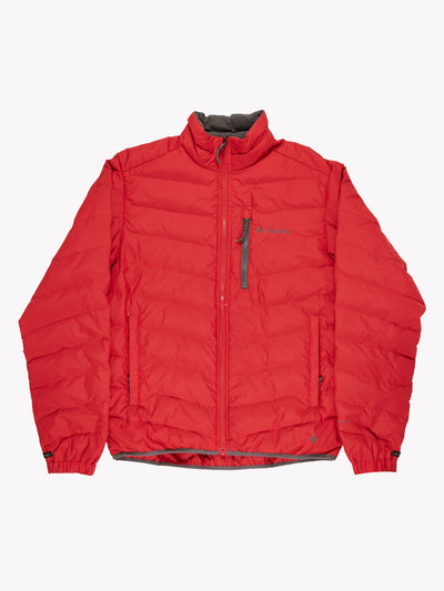 Columbia Puffer Jacket Red Size Medium