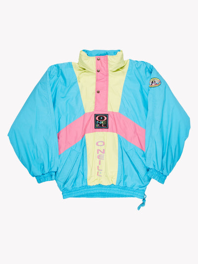 O'Neill Pullover Jacket Blue/Pink/Yellow Size Large