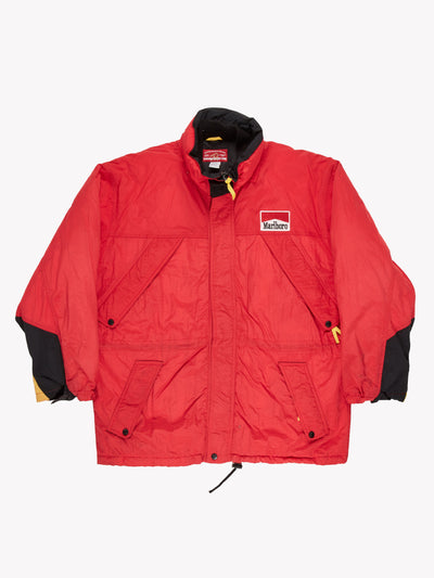 Marlboro Padded Jacket Red/Black/Yellow Size Large