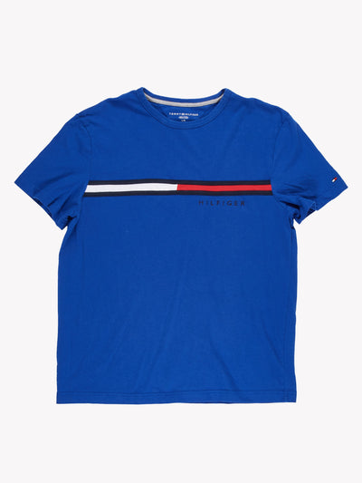 Tommy Hilfiger T-Shirt Blue/White/Red Size Large