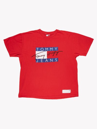 Tommy Hilfiger T-Shirt Red/White/Blue Size XXL