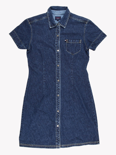 Tommy Hilfiger Denim Dress Blue Size Small