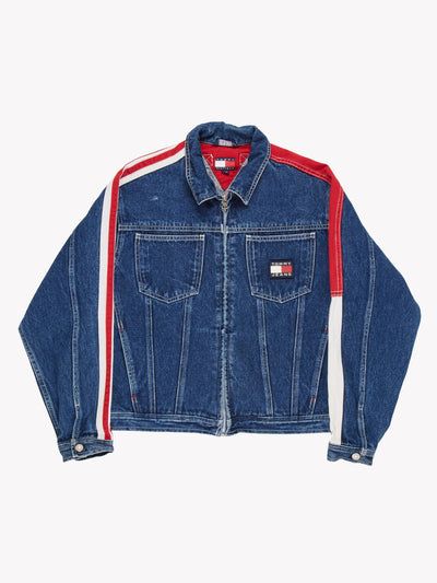 Tommy Hilfiger Denim Jacket Blue/Red/White Size Large