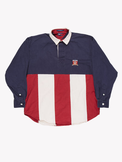 Tommy Hilfiger Shirt Navy/Red/White Size Medium