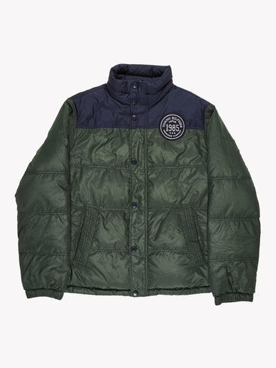 Tommy Hilfiger Reversible Puffer Jacket Green/Navy Size Medium