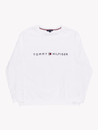 Tommy Hilfiger Sweatshirt White Size Large