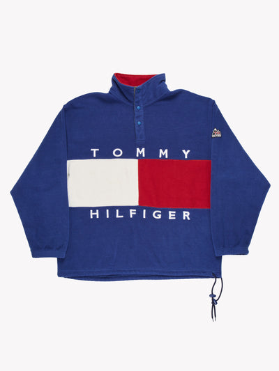 Tommy Hilfiger Fleece Blue/White/Red Size Large