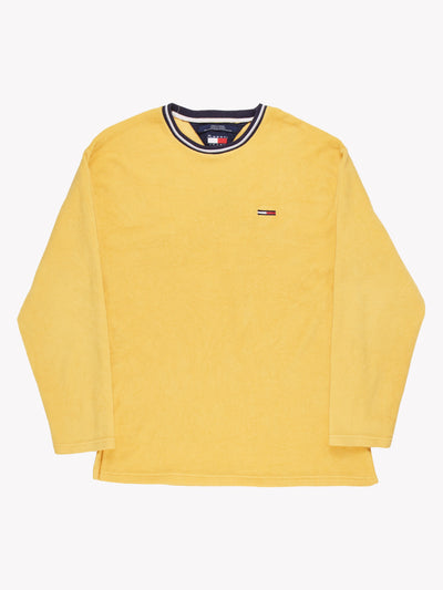 Tommy Hilfiger Fleece Sweatshirt Yellow Size Large