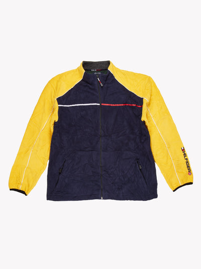 Tommy Hilfiger Zip Up Fleece Navy/Yellow Size XL