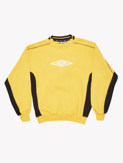 Umbro 90's Sweatshirt Yellow/Black Size Medium
