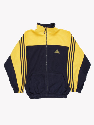 Adidas Zip Up Fleece Navy/Yellow Size XXL