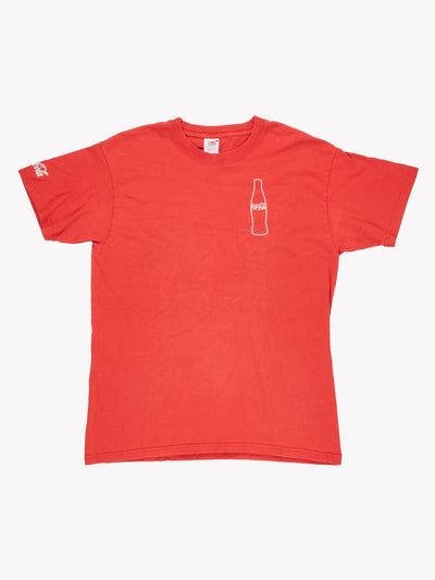 Coca-Cola T-Shirt Red/White Size Large
