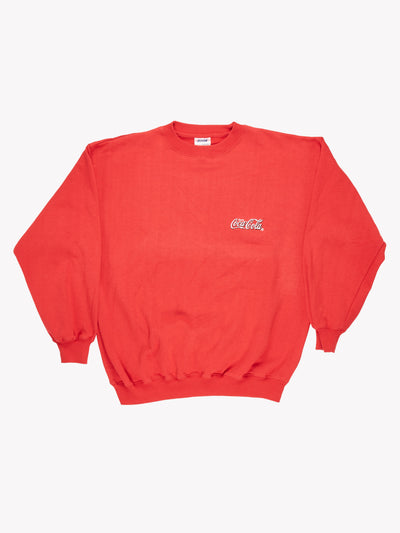 Coca-Cola Sweatshirt Red Size Large