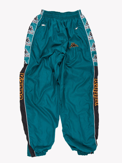 Kappa Tracksuit Pants Green/Black/Orange Size XXL
