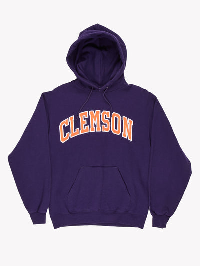 Champion 'Clemson' Hoodie Purple/Orange Size Medium