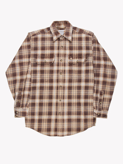 Carhartt Check Shirt Brown/Blue Size Small