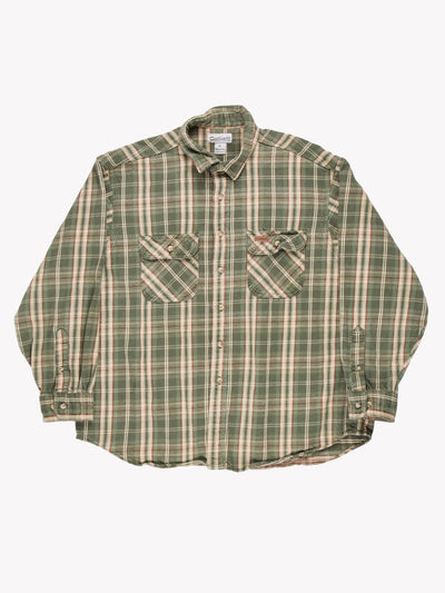 Carhartt Check Shirt Green/Cream/Red Size XL