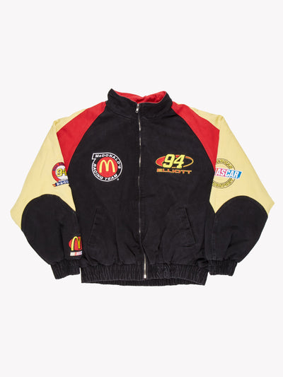 Nascar Mcdonalds Jacket Black/Red/Yellow Size XL