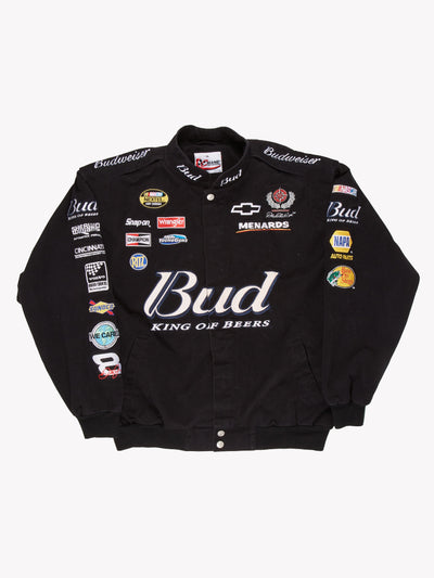Nascar Budwiser Jacket Black/Blue Size XL