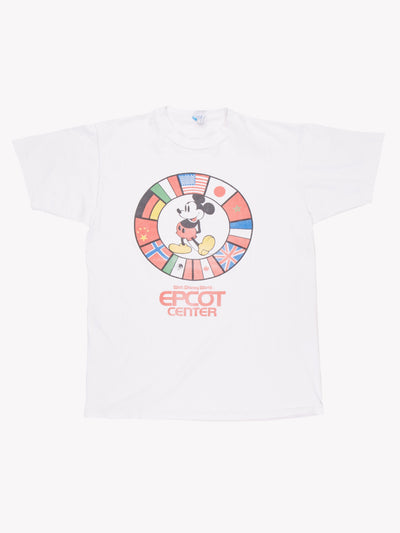 Disney EPCOT Center T-Shirt White/Red Size Large