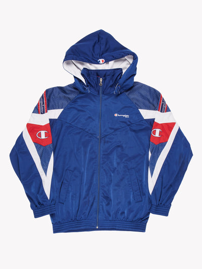 Champion Jacket Blue/Red Size Large
