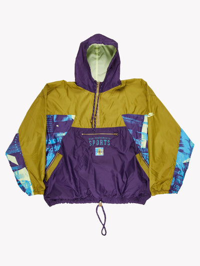 Nike Pull Over Jacket Purple/Green/Blue Size XXL