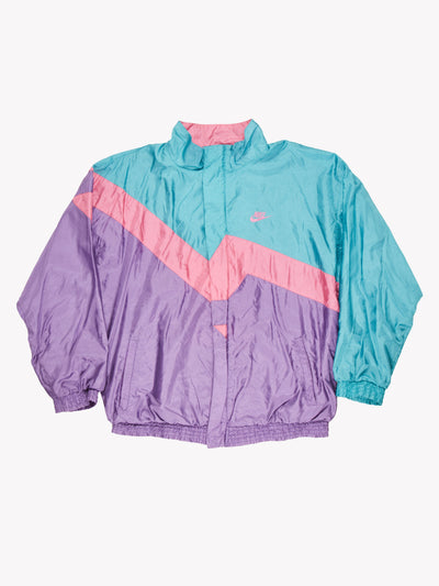 Nike Jacket Purple/Pink/Green Size Large