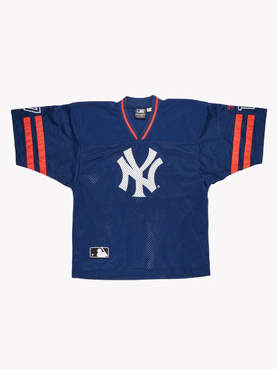 NY Yankees MLB Jersey Blue/Red/White Size Large