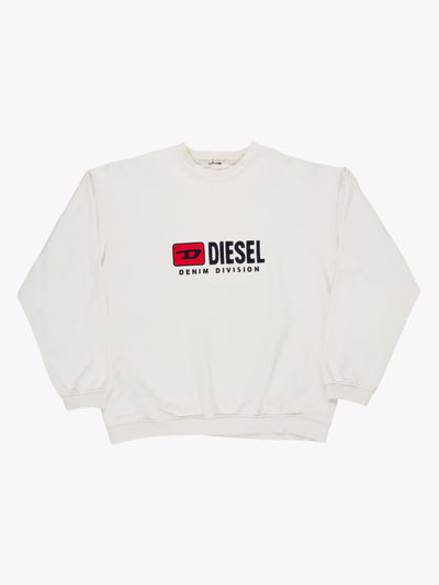 Diesel Sweatshirt White/Navy/Red Size XL