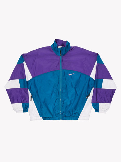 Nike 90's Jacket Blue/Purple/White Size Medium