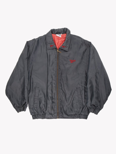 Reebok Jacket Grey/Red Size Small