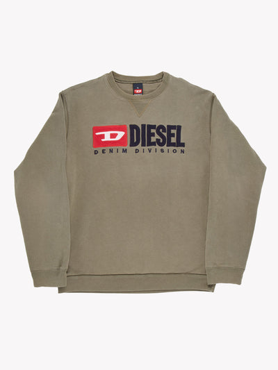 Diesel Sweatshirt Green/Navy/Red Size XL