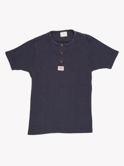 Levis Womens Ribbed T-Shirt Navy Size Large