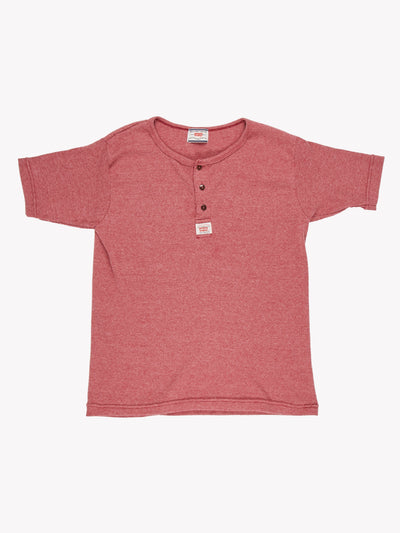 Levis Ribbed T-Shirt Burgundy Size Small