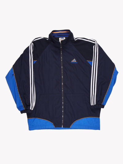 Adidas Jacket Blue/Orange Size XXXL