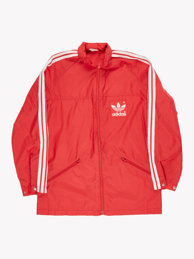 Adidas Vintage Jacket Red/White Size Medium