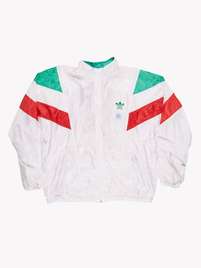 Adidas 90's Track Jacket White/Green/Red Size Medium