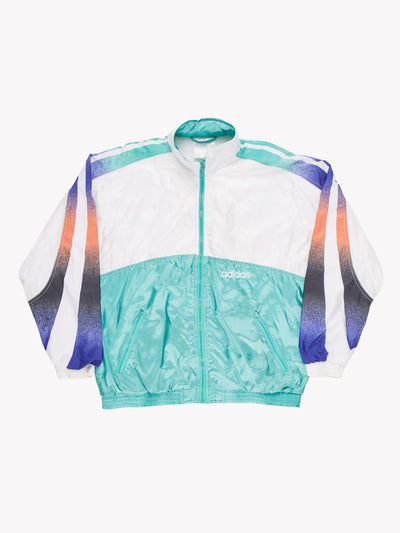 Adidas 90's Track Jacket White/Green Size Medium