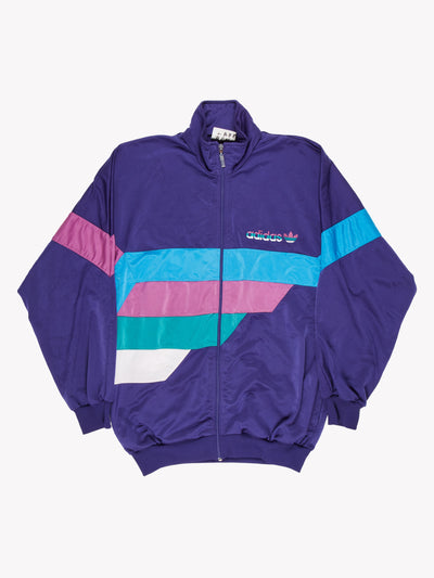 Adidas Vintage Zip Thru Purple/Blue/Green Size Medium