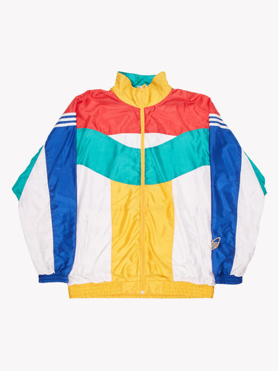 Adidas Zip Thru Jacket Red/Green/White Size Large